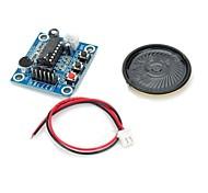 ISD1820 Audio-Sound-Aufnahmemodul w / Mikrofon / Lautsprecher - deep blue