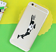 modelo del baloncesto TPU soft phone transparente para el iphone 6 / 6s