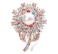 Korean Schmuck Diamant Perlenbrosche
