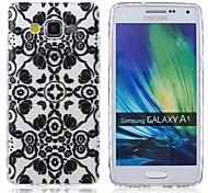 Blumenmuster PU-Leder Material Flip-Karte für Samsung-Galaxie A3 / A5