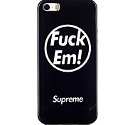 Fuck  Pattern TPU Phone Case for iPhone 5/iPhone 5S