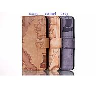 Para Capinha iPhone 5 Porta-Cartão / Carteira / Com Suporte / Flip / Estampada Capinha Corpo Inteiro Capinha Paisagem Urbana RígidaCouro
