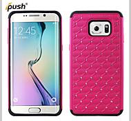 bling ster kristal strass diamant case siliconen case met pc case voor Samsung Galaxy s6 rand + (verschillende kleuren)