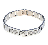 Fashion Men'S Geometric Pattern Titanium Steel  Bracelet