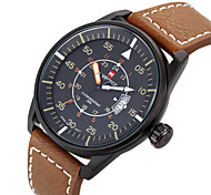 NAVIFORCE® Men's Date Display Fashion Genuine Leather Strap Sports Watches