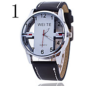 Men's Watch WEITE Mens Watch Hollow Mens Watch Men Sport Leather Watch