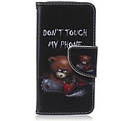 ours de tronçonneuse peint PU cas de téléphone pour iphone5c