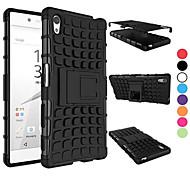 2 in 1 a due colori staccabile caso ibrido tpu + pc con kickstand per Sony Z5 Xperia (colori assortiti)