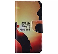 MISS YOU Pattern Cell Phone Leather For iPhone 6/6S
