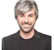 pelucas de alta calidad corta del hombre de color gris recta sintética