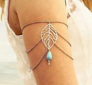 Fashion Alloy/Chain/Turquoise Armcuff & Handchain For Women