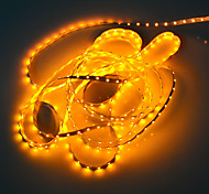 5M 5W 300x3528 SMD Yellow Light Flexible LED Strip Lamp (DC 12V)