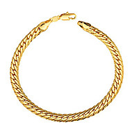 Fashion 18K Gold Plated Alloy Snake Chain Bracelets Jewelry