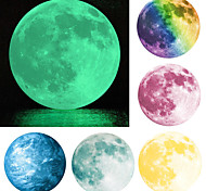 The Earth and The Moon Glowing in the Darkness Luminous Wall Stickers Art Decals