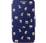 kinston® elefantes patrón de cuerpo completo la cubierta de la PU con el soporte para Samsung Galaxy Note 2 / nota 3 / nota 4 / nota 5 /