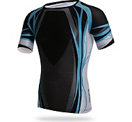 Others Men's Cycling Tops Short Sleeve Bike Spring / Summer / Autumn Breathable / Sweat-wicking / Compression BlackS