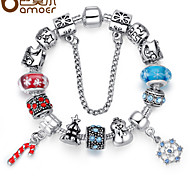 Aliexpress HOT SELL 11 Style 925 Silver European Charm Bracelet for Women with Glass Beads Fashion DIY Jewelry