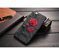 PU Soft Shell Chinese style Artworks Embroidery Rose for iPhone 6S Plus/iPhone 6 Plus Assorted Color