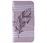 The New Feather PU Leather Material Flip Card Cell Phone Case for iPhone 6 /6S