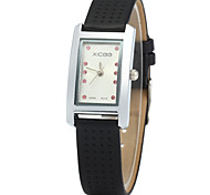 XICOO 450 Leather Band Women Diamond Quartz Watch