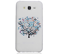 Tree Pattern On Transparent TPU Material Printing Phone Case for Samsung Galaxy J1 Ace/J2/On5/On7