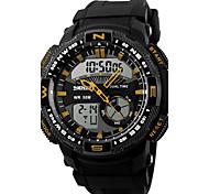 Hommes Montre de Sport Montre Bracelet Numérique LED Calendrier Chronographe Etanche Double Fuseaux Horaires penggera Montre de Sport