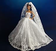Barbie Doll - Abiti - Matrimonio - di Organza / Pizzo - Bianco - Abiti