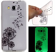 New Dandelion Pattern TPU Material Luminous Phone Case for Galaxy G530/G360/J3/J1 Ace/I9060