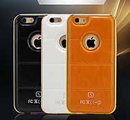 HZBYC® New Luxury Leather Lines Genuine Leather iPhone 6 4.7 Metal TPU Integrated Frame Case for Apple iPhone 6/6S