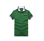 Fulang Men  Pure Cotton T-shirt Stand Collar Short Sleeve SC22