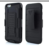 3 in 1 Impact Black Armor Hybrid Case With Belt Swivel Clip Stand for iPhone 6/6S