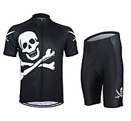 WEST BIKING® Spring Mountain Bike Cycling Short Sleeve Jersey Suits Clothes Xihansugan Skull