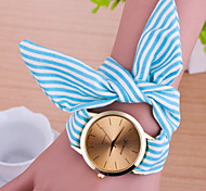 Woman Stripes Strap Wrist  Watch