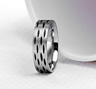 Fashion Men'S Black Fine Point Titanium Steel Ring