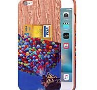 caso tampa traseira karzea ™ padrão colorido balão de couro pu com suporte de cartão para iphone 6plus / 6splus