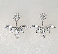 European Style Fashion Flower Rhinestone Earrings