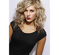 cabelos de comprimento médio luz tecer europeu peruca cabelo loiro