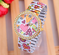 Woman's Watches  New Fashion Love Pattern  Elastic Watch