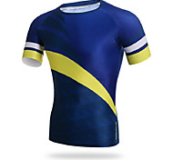 Others Men's Cycling Tops Short Sleeve Bike Breathable / Ultraviolet Resistant / Sweat-wicking / CompressionDark