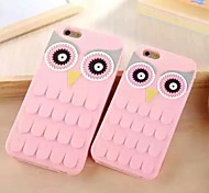New Arrival 3D Cute Cartoon Owl Eyes Soft Silicone Back Cover Case for iPhone 6/6S(Assorted Colors)