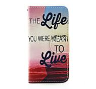 vivre à la vie PU portefeuille en cuir cas de corps entier pour iPod Touch 5/6