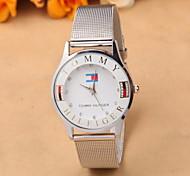 de venta del comercio fina plata damas diamante de la manera de la correa de malla relojes europeos y americanos