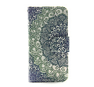 Gradient Flower PU Leather Wallet Full Body Case for iPod Touch 5/6