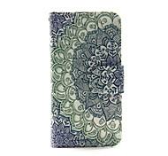 fleur gradient pu portefeuille en cuir cas de corps entier pour iPod Touch 5/6