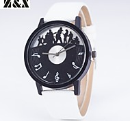 Women's Fashion Personality Quartz Leather Musical Notation Analog  Wrist Watch(Assorted Colors)