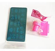 1set piastra calda manicure dipinto kit di tenuta 4 piastra rettangolare 1 di tenuta