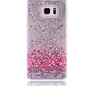 Fun Glitter Star Dynamic Liquid Back Cover for Samsung Note 5