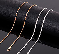 Jewelry Chain Necklaces Wedding / Party / Daily / Casual Titanium Steel 1pc Women / Men Wedding Gifts