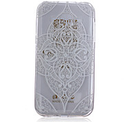 Corners Diamond Pattern On Transparent TPU Material Printing Phone Case for Samsung Galaxy J1 Ace/J2/On5/On7