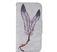 motif de plume cuir mobile pour iPhone 5 / 5s